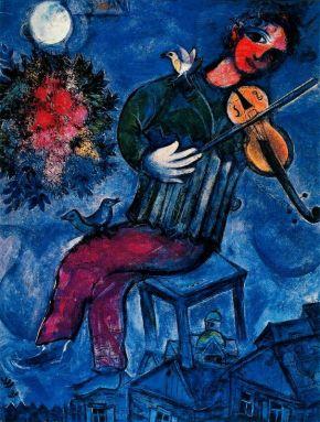 VIOLINISTA AZUL, de Marc Chagall