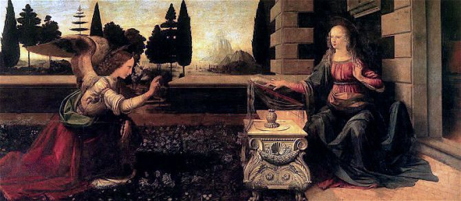 Leonardo da Vinci_Annunciation