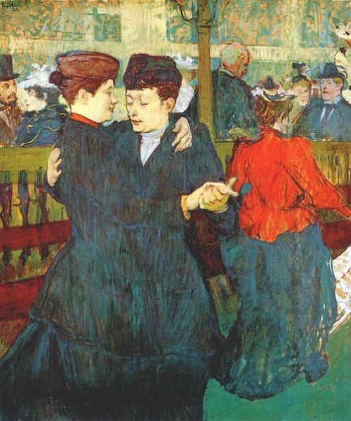 "Lautrec at the Moulin Rouge, ""Two women waltzing"" de 1892"