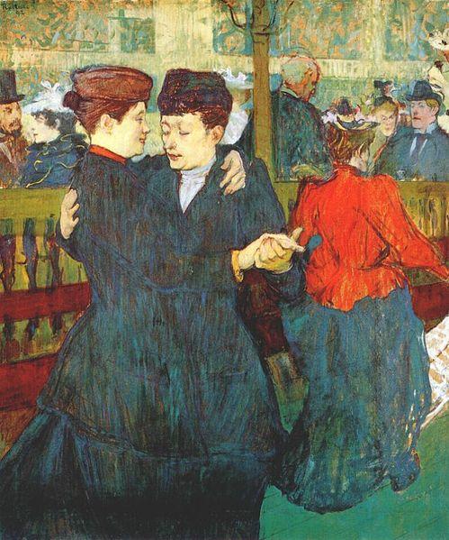 "Lautrec at the Moulin Rouge, ""Two women waltzing"" de 1892"