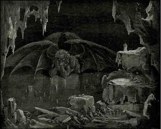 """""""Do aflito reino o imperador eu via"""", Divina Comédia de Dante"""