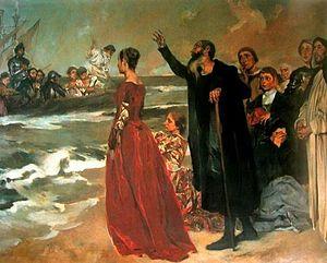"""Partida das naus na praia do Restelo em Portugal e discurso da personagem da epopeia """"Os Lusíadas"""" do poeta Camões"""