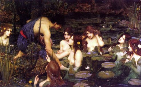 Hilas e as Ninfas, de John William Waterhouse (1896)